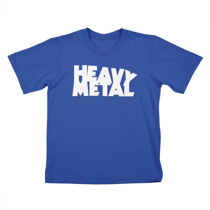 Heavy Metal White Logo Kids T-Shirt by Heavy Metal Magazine