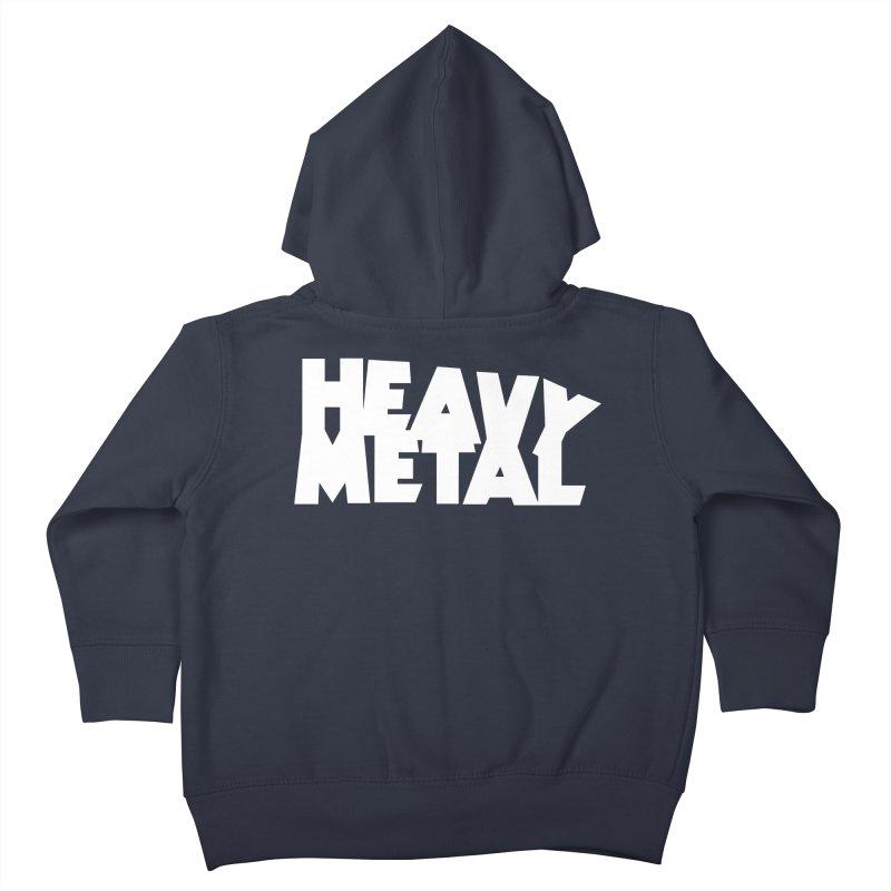 Heavy Metal White Logo Kids Toddler Zip-Up Hoody by Heavy Metal Magazine