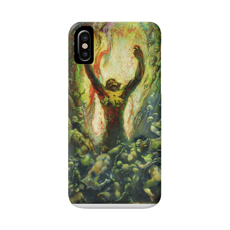 REIGN OF WIZARDRY Accessories Phone Case by Heavy Metal Magazine