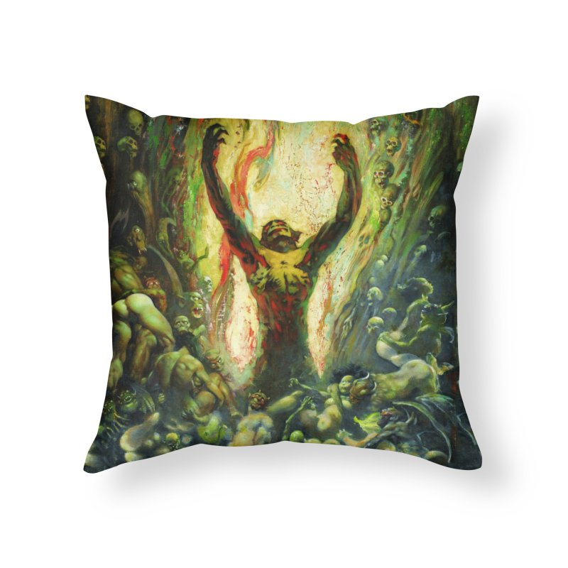 REIGN OF WIZARDRY Home Throw Pillow by Heavy Metal Magazine