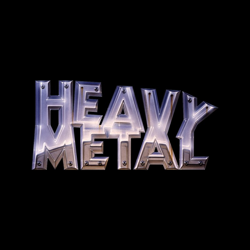 Heavy Metal Chrome Men's Zip-Up Hoody by Heavy Metal Magazine