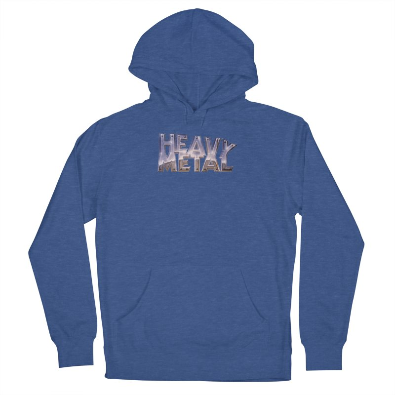 Heavy Metal Chrome Men's French Terry Pullover Hoody by Heavy Metal Magazine