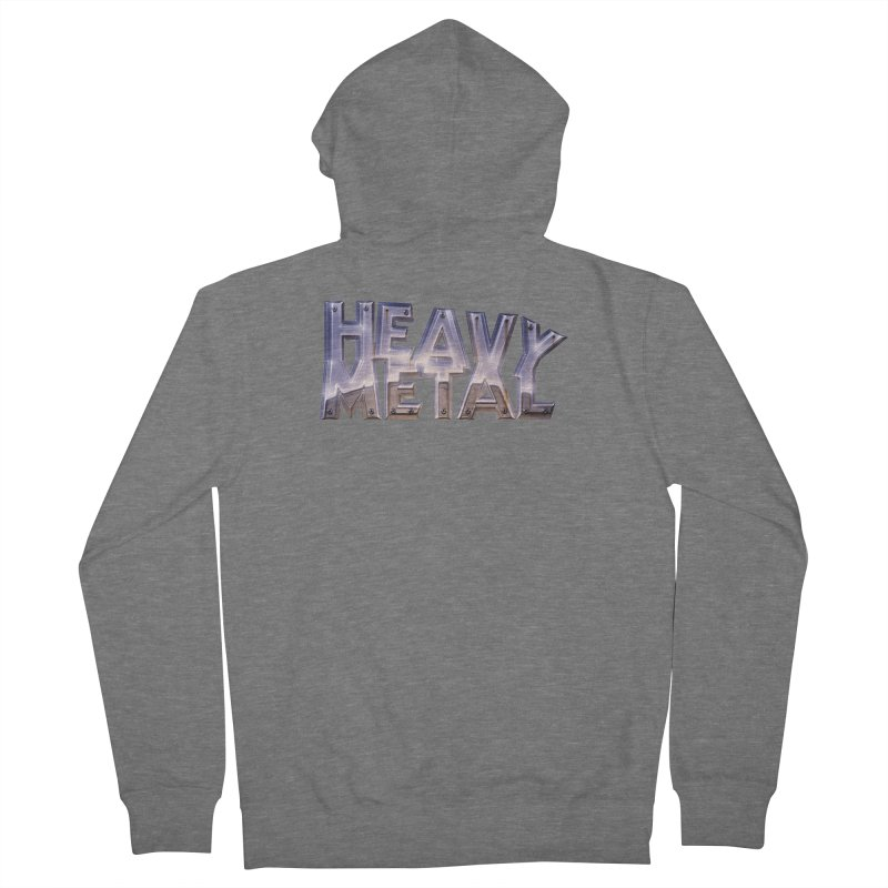 Heavy Metal Chrome Women's French Terry Zip-Up Hoody by Heavy Metal Magazine