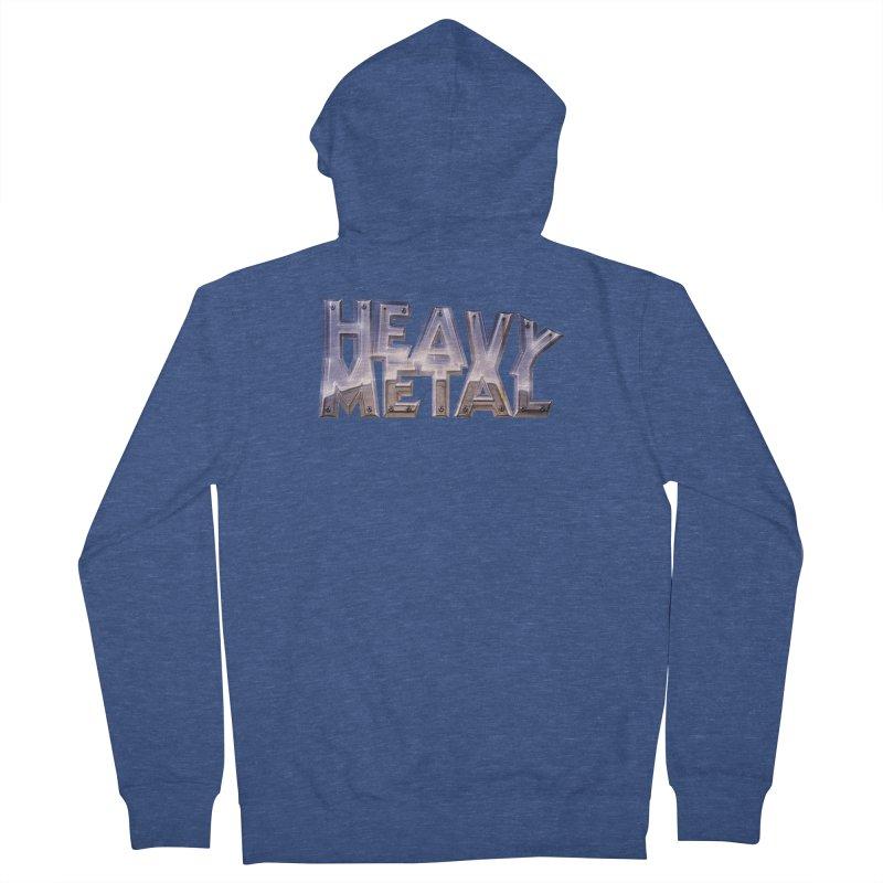 Heavy Metal Chrome Men's Zip-Up Hoody by Heavy Metal Magazine