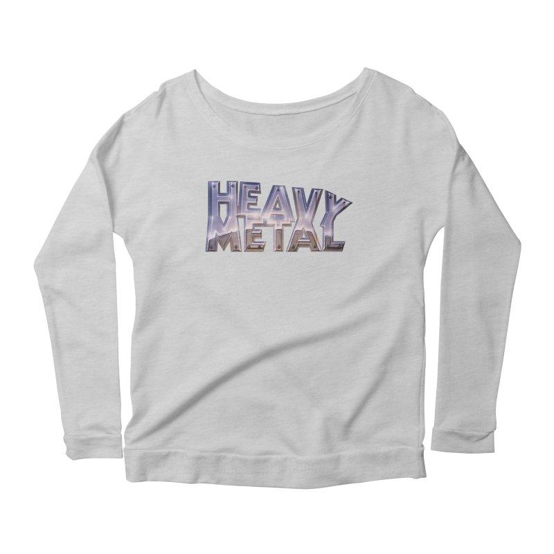 Heavy Metal Chrome Women's Scoop Neck Longsleeve T-Shirt by Heavy Metal Magazine