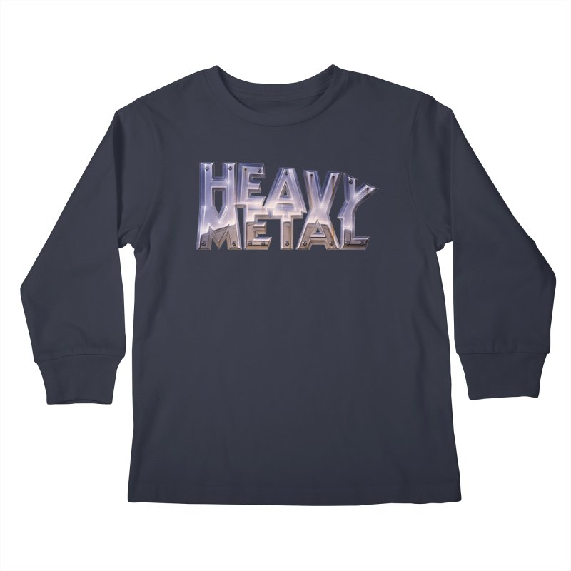 Heavy Metal Chrome Kids Longsleeve T-Shirt by Heavy Metal Magazine