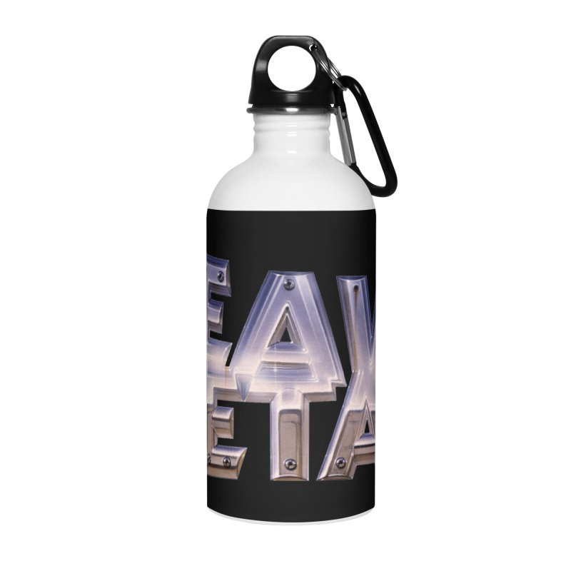 Heavy Metal Chrome Accessories Water Bottle by Heavy Metal Magazine