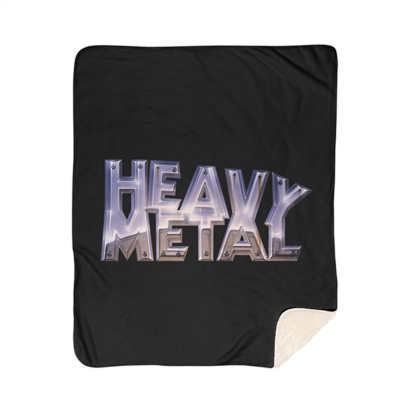 Heavy Metal Chrome Home Sherpa Blanket Blanket by Heavy Metal Magazine