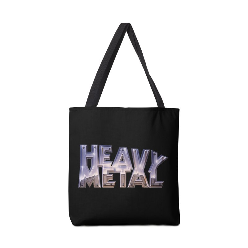 Heavy Metal Chrome Accessories Tote Bag Bag by Heavy Metal Magazine