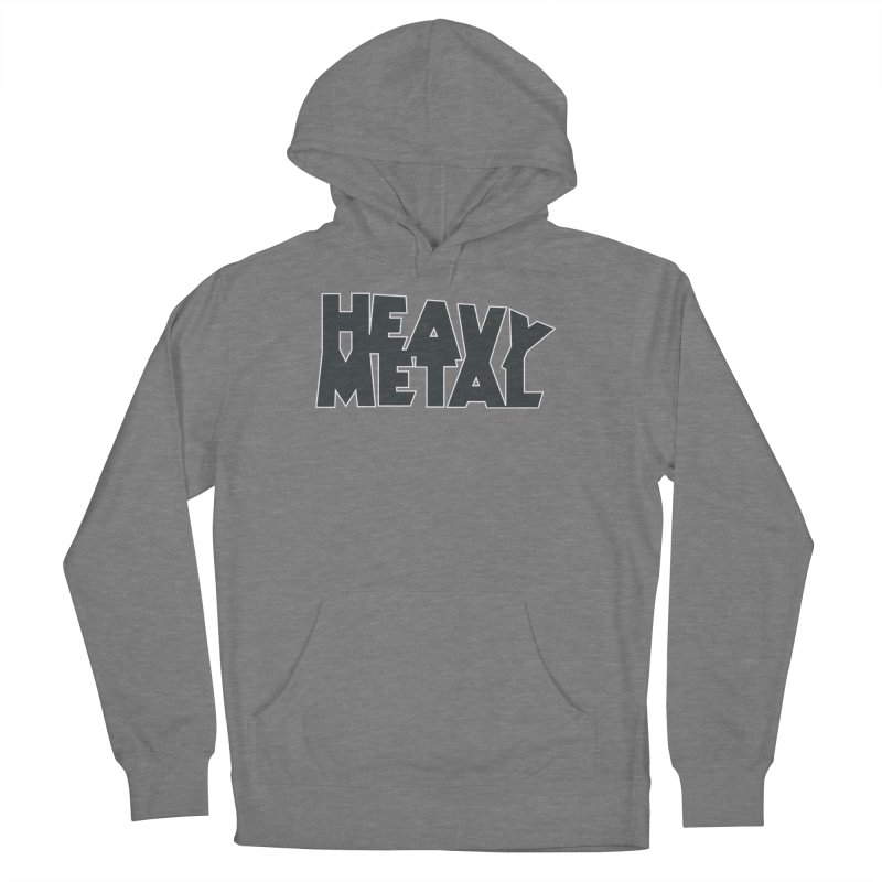 Heavy Metal Black Logo Men's French Terry Pullover Hoody by Heavy Metal Magazine