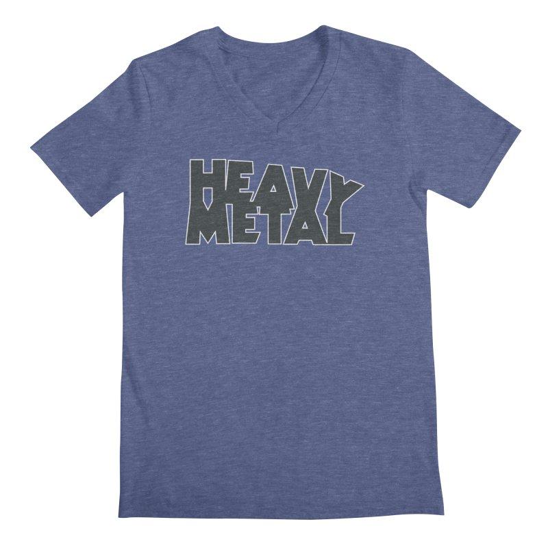Heavy Metal Black Logo Men's V-Neck by Heavy Metal Magazine