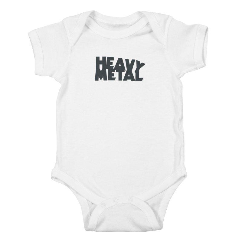Heavy Metal Black Logo Kids Baby Bodysuit by Heavy Metal Magazine