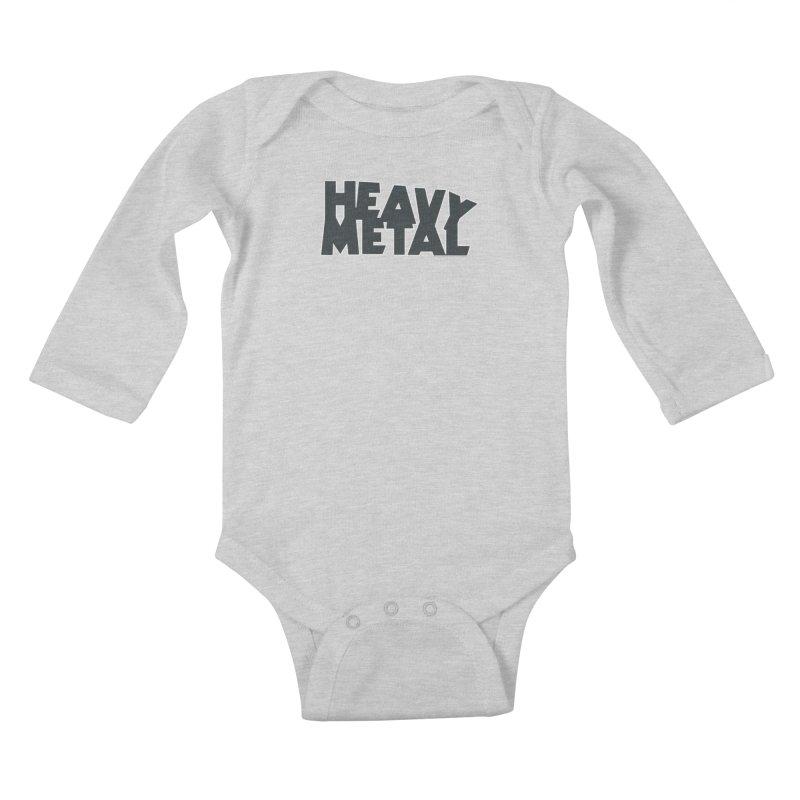 Heavy Metal Black Logo Kids Baby Longsleeve Bodysuit by Heavy Metal Magazine
