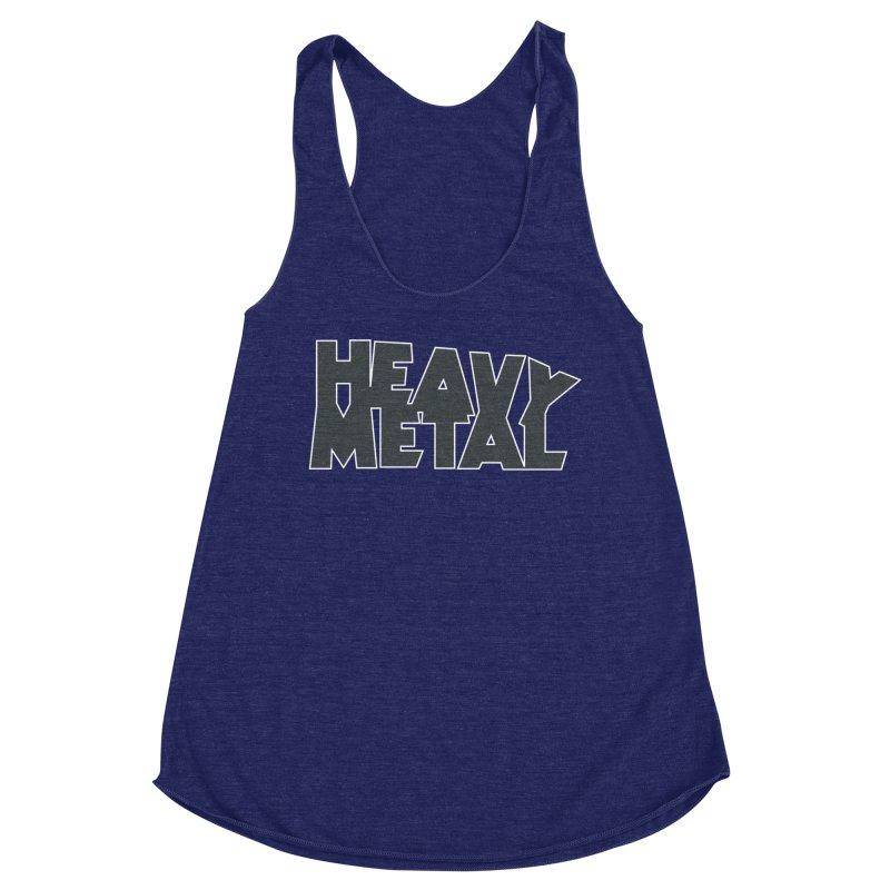 Heavy Metal Black Logo Women's Racerback Triblend Tank by Heavy Metal Magazine