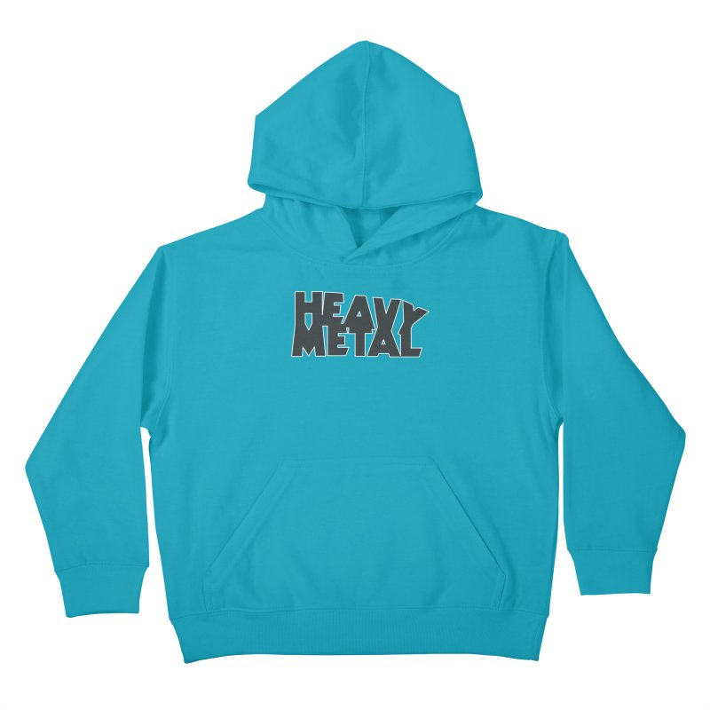 Heavy Metal Black Logo Kids Pullover Hoody by Heavy Metal Magazine