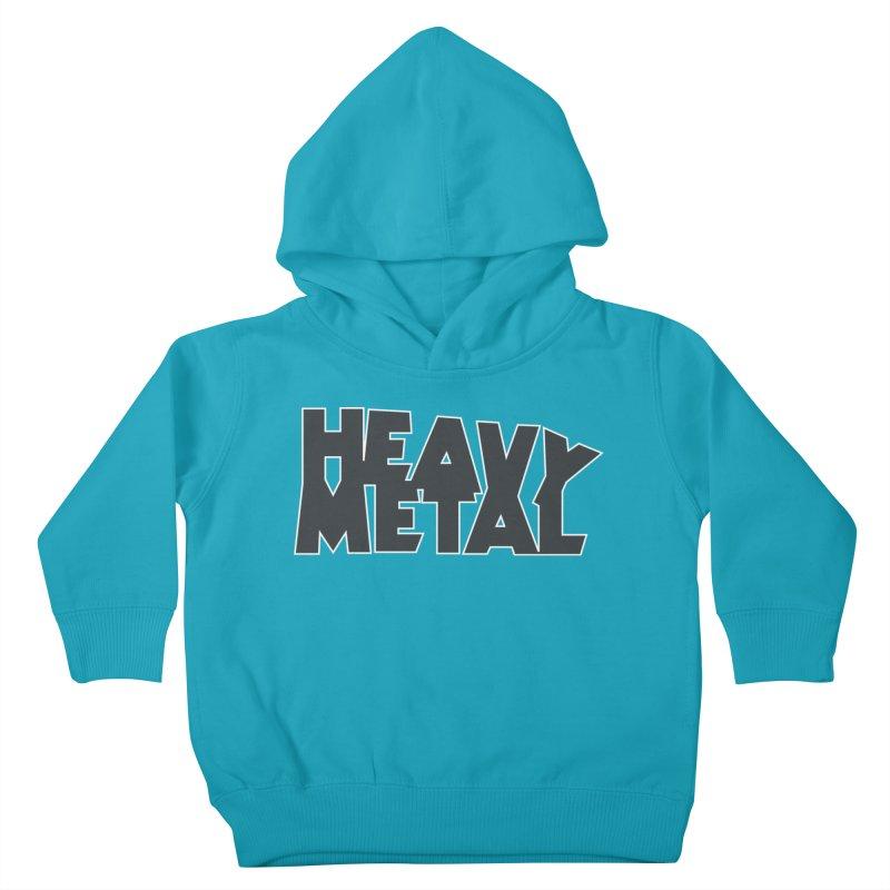 Heavy Metal Black Logo Kids Toddler Pullover Hoody by Heavy Metal Magazine