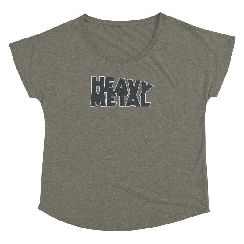 Heavy Metal Black Logo Women's Dolman Scoop Neck by Heavy Metal Magazine