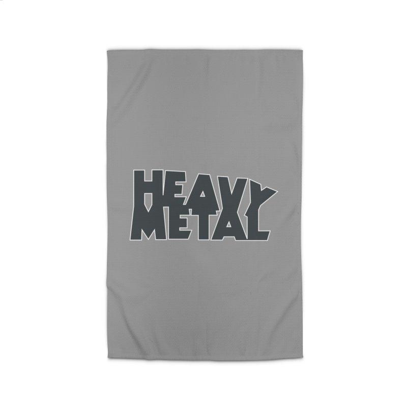 Heavy Metal Black Logo Home Rug by Heavy Metal Magazine