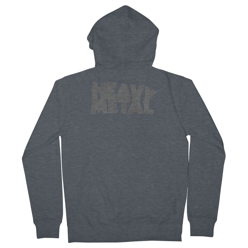 Heavy Metal Distressed Women's French Terry Zip-Up Hoody by Heavy Metal Magazine