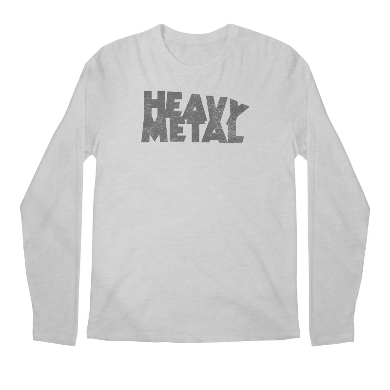 Heavy Metal Distressed Men's Regular Longsleeve T-Shirt by Heavy Metal Magazine