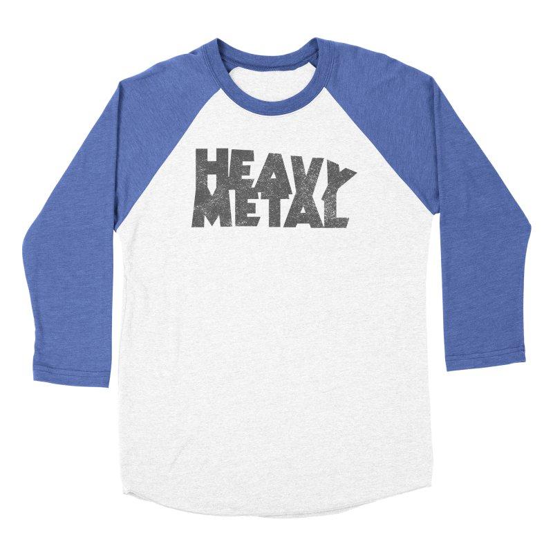 Heavy Metal Distressed Men's Baseball Triblend Longsleeve T-Shirt by Heavy Metal Magazine