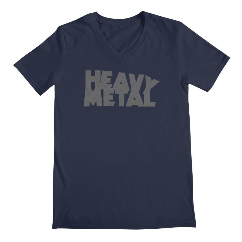 Heavy Metal Distressed Men's V-Neck by Heavy Metal Magazine