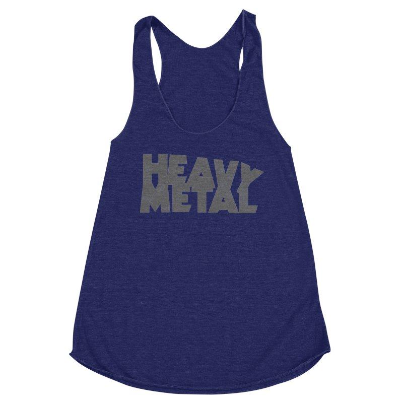Heavy Metal Distressed Women's Racerback Triblend Tank by Heavy Metal Magazine