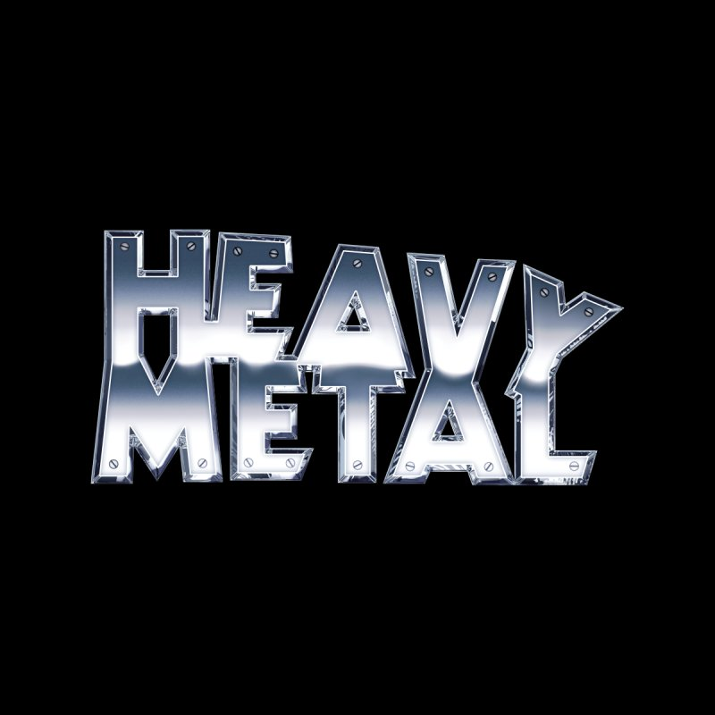 Heavy Metal Chrome Logo v2 Home Duvet by Heavy Metal Magazine