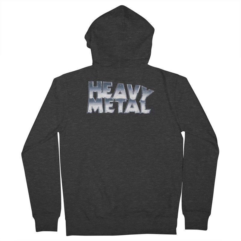 Heavy Metal Chrome Logo v2 Women's French Terry Zip-Up Hoody by Heavy Metal Magazine