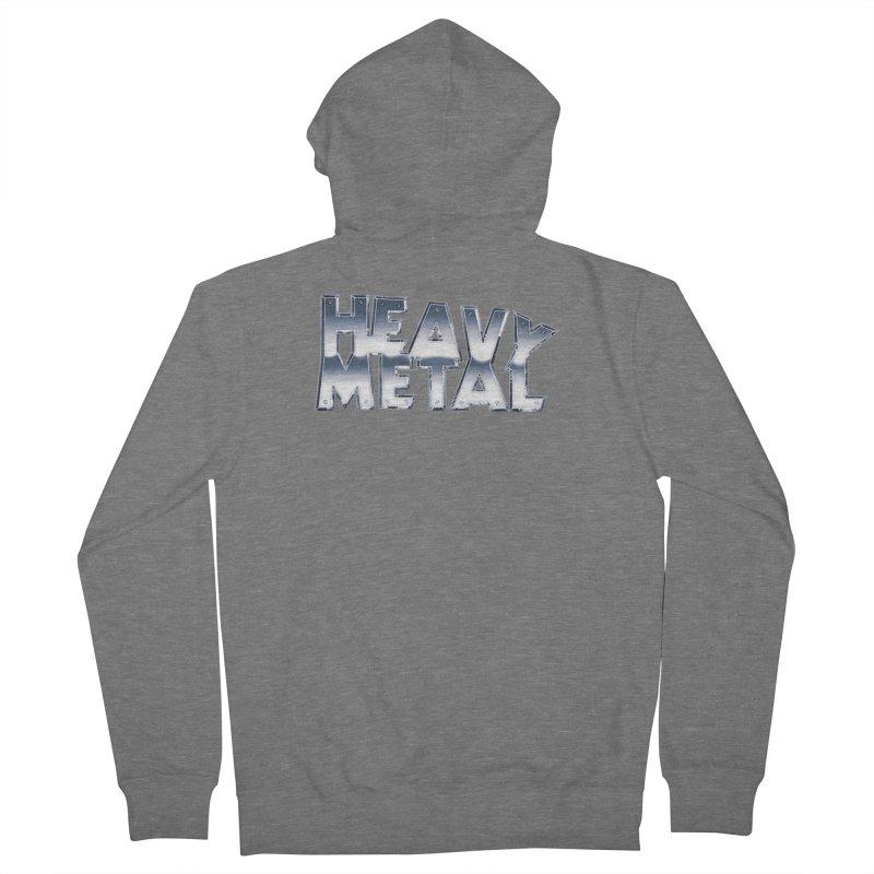 Heavy Metal Chrome Logo v2 Men's Zip-Up Hoody by Heavy Metal Magazine