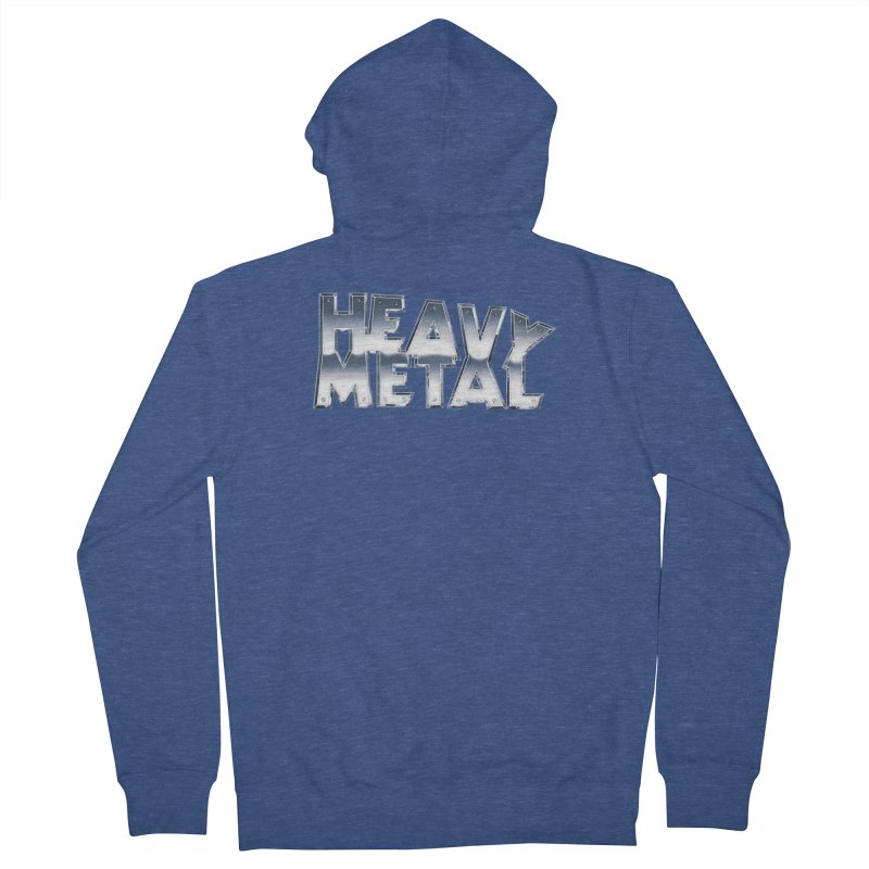 Heavy Metal Chrome Logo v2 Men's French Terry Zip-Up Hoody by Heavy Metal Magazine