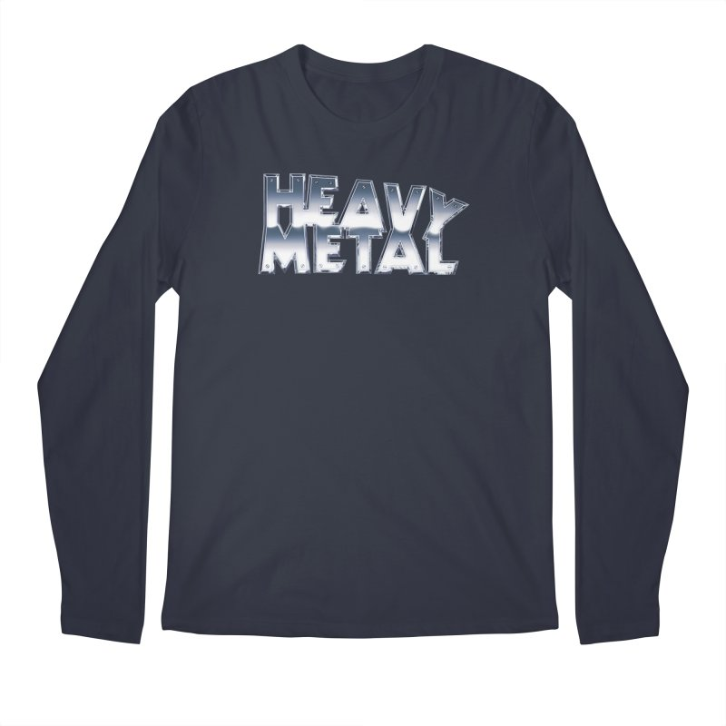 Heavy Metal Chrome Logo v2 Men's Regular Longsleeve T-Shirt by Heavy Metal Magazine