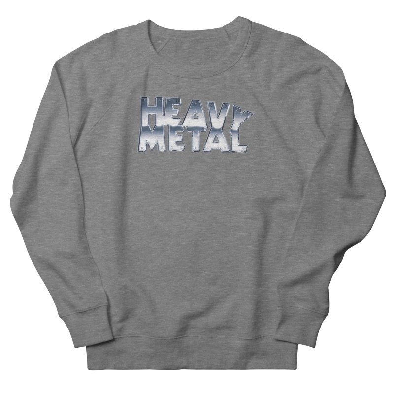 Heavy Metal Chrome Logo v2 Women's French Terry Sweatshirt by Heavy Metal Magazine
