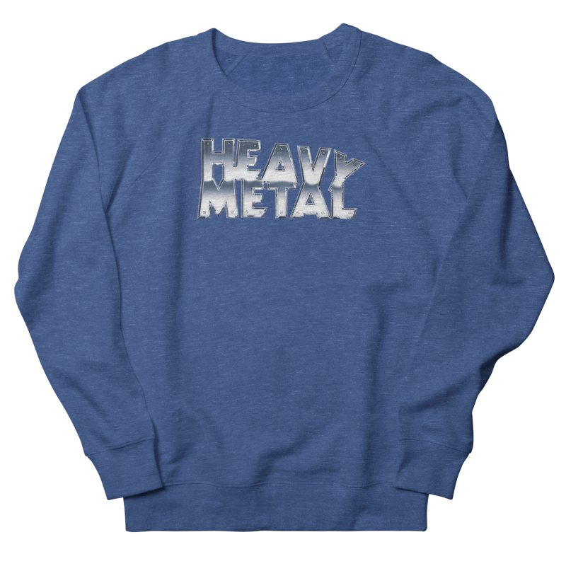 Heavy Metal Chrome Logo v2 Men's Sweatshirt by Heavy Metal Magazine