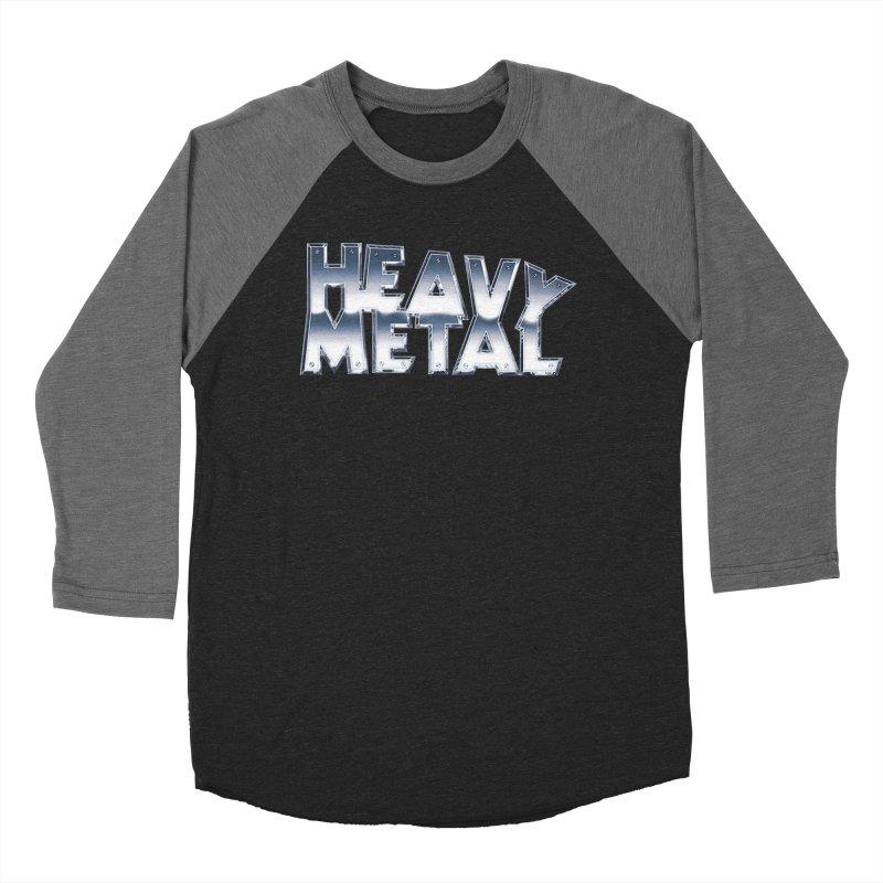 Heavy Metal Chrome Logo v2 Women's Baseball Triblend Longsleeve T-Shirt by Heavy Metal Magazine