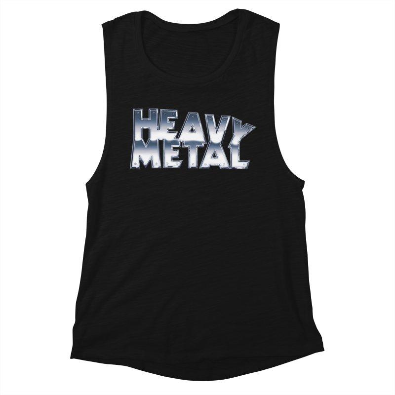 Heavy Metal Chrome Logo v2 Women's Muscle Tank by Heavy Metal Magazine