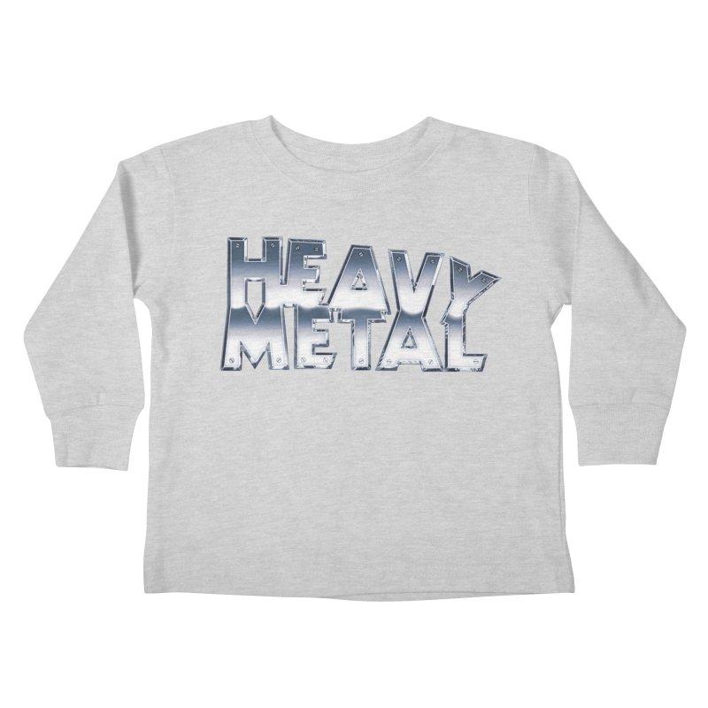 Heavy Metal Chrome Logo v2 Kids Toddler Longsleeve T-Shirt by Heavy Metal Magazine
