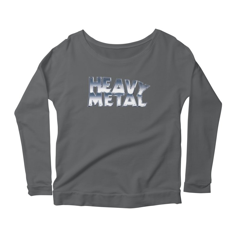 Heavy Metal Chrome Logo v2 Women's Scoop Neck Longsleeve T-Shirt by Heavy Metal Magazine