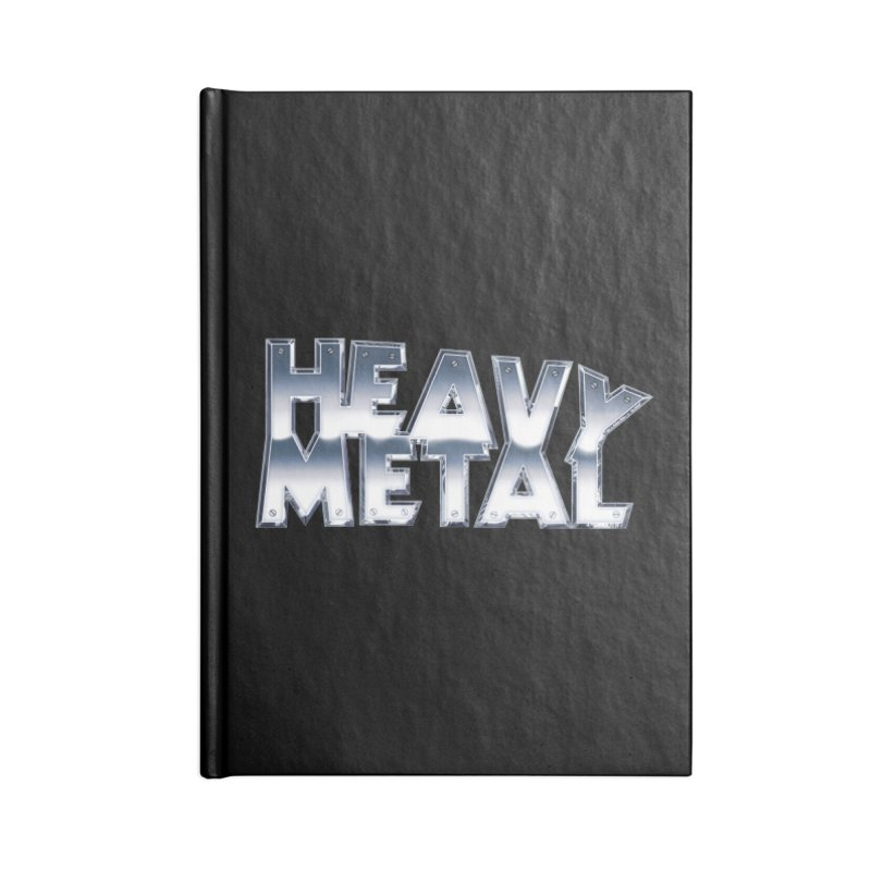 Heavy Metal Chrome Logo v2 Accessories Notebook by Heavy Metal Magazine