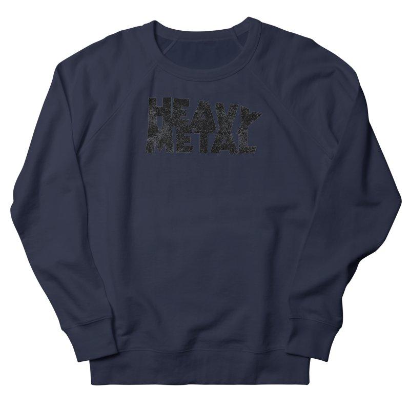 Heavy Metal Black Distressed Logo Men's Sweatshirt by Heavy Metal Magazine