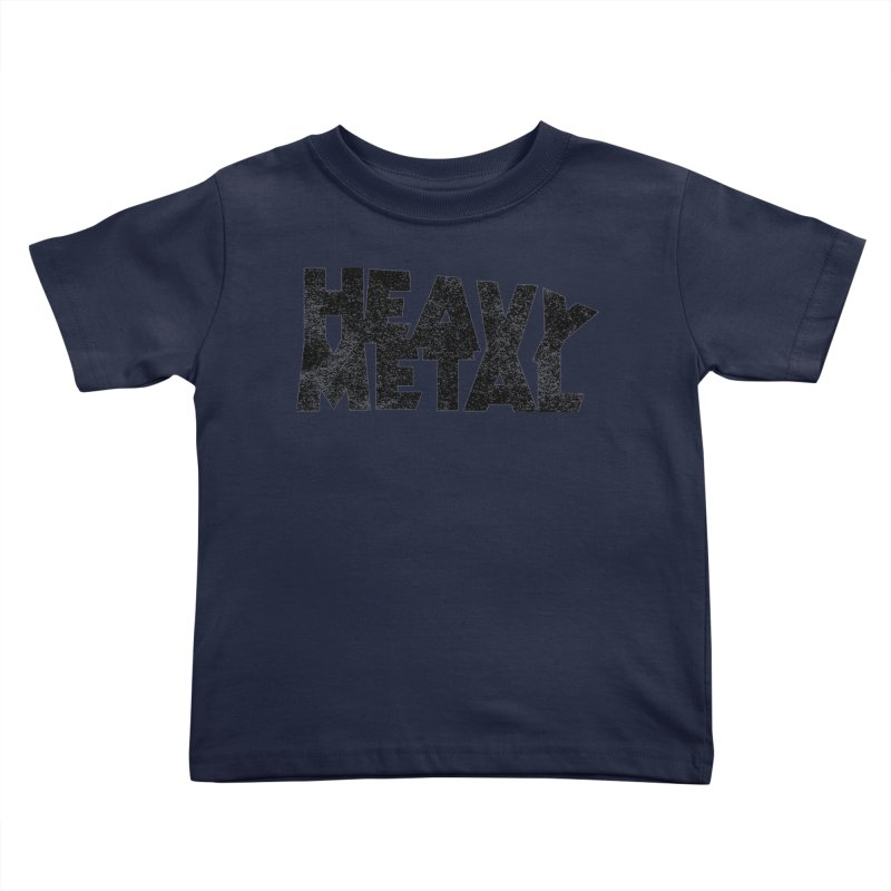 Heavy Metal Black Distressed Logo Kids Toddler T-Shirt by Heavy Metal Magazine