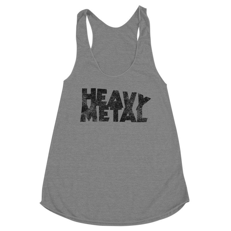 Heavy Metal Black Distressed Logo Women's Tank by Heavy Metal Magazine