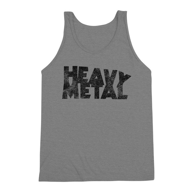 Heavy Metal Black Distressed Logo Men's Tank by Heavy Metal Magazine