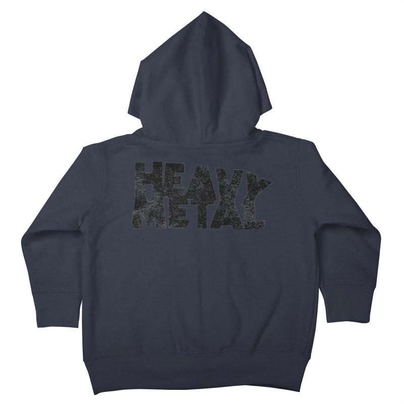 Heavy Metal Black Distressed Logo Kids Toddler Zip-Up Hoody by Heavy Metal Magazine