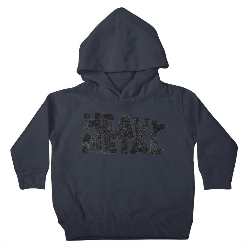 Heavy Metal Black Distressed Logo Kids Toddler Pullover Hoody by Heavy Metal Magazine