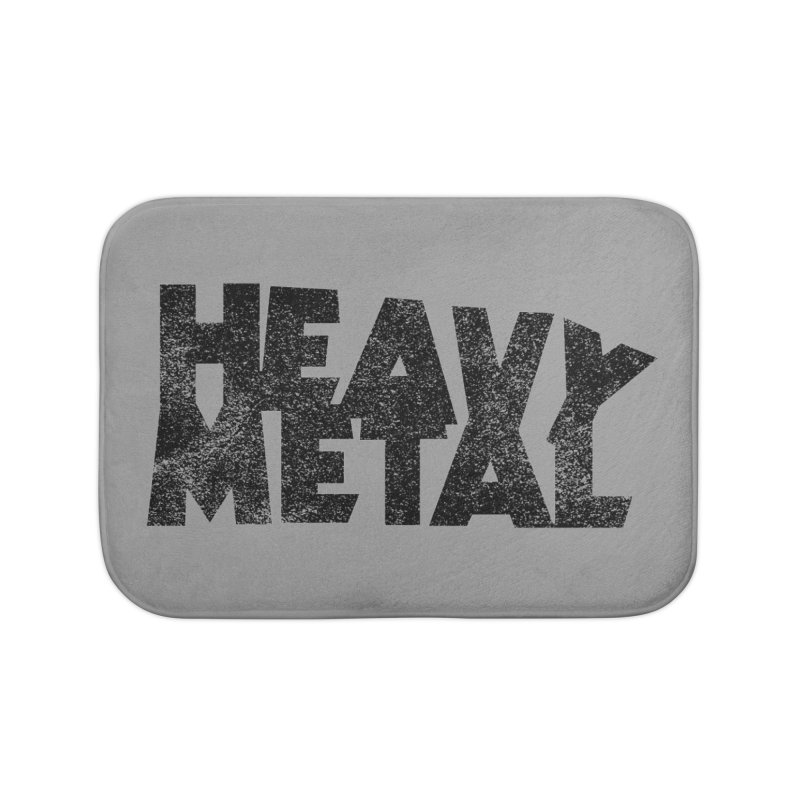 Heavy Metal Black Distressed Logo Home Bath Mat by Heavy Metal Magazine