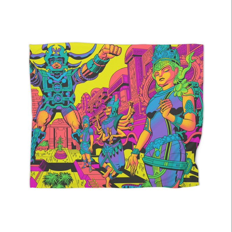 Brahmas Pavilions of Joy - Jack Kirby and Barry Geller Home Blanket by Heavy Metal Magazine