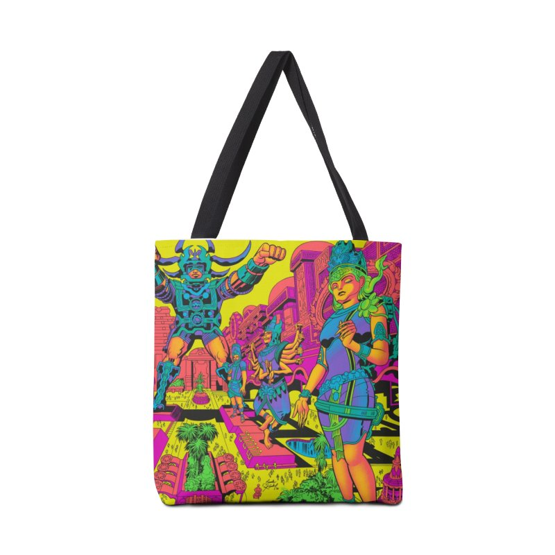 Brahmas Pavilions of Joy - Jack Kirby and Barry Geller Accessories Bag by Heavy Metal Magazine