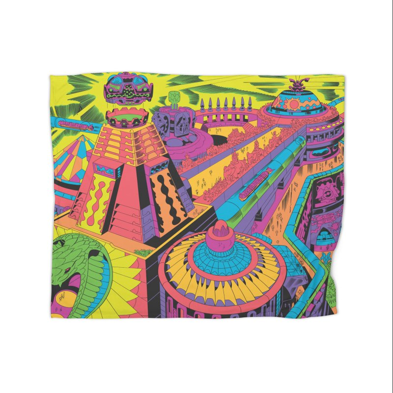 North East Corner - Jack Kirby and Barry Geller Home Fleece Blanket Blanket by Heavy Metal Magazine