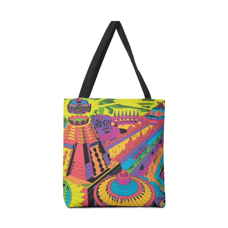 North East Corner - Jack Kirby and Barry Geller Accessories Tote Bag Bag by Heavy Metal Magazine
